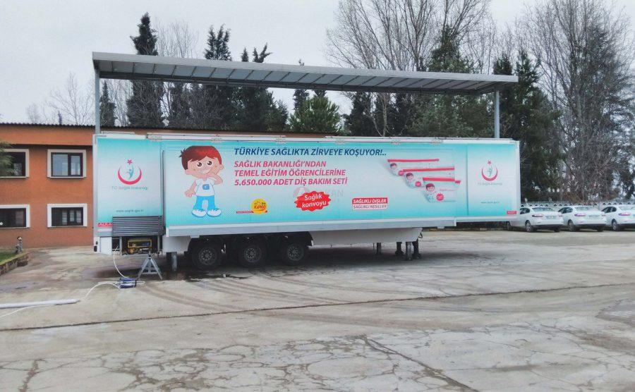 Mobile School Education Trailer Vehicle