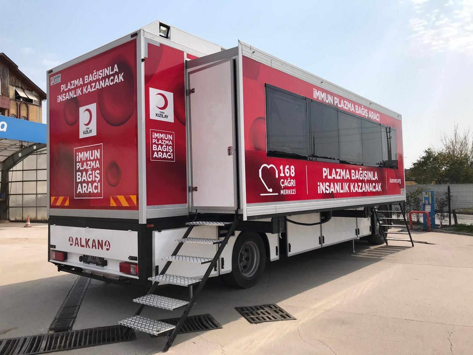 Mobile Immune Plasma Donation Vehicles Set Out
